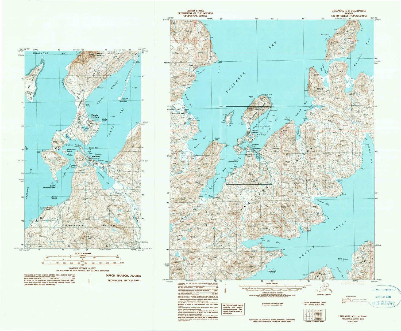 New products, world's highest quality popular! YellowMaps Unalaska C 2 Max 57% OFF AK topo 15 map Scale X Minu 1:63360