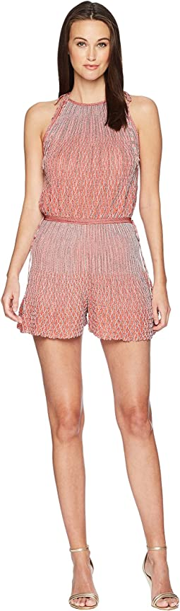 Lurex Diamond Stripe Romper