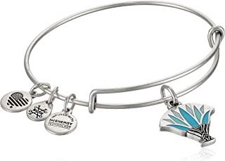 Alex and ANI Womens Blue Lotus EWB Bangle Bracelet, Expandable