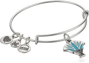 Alex and ANI Womens Blue Lotus EWB Bangle Bracelet, Expandable