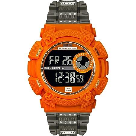 FILA Digital Watch Men - Digital Watches for Men - Digital Watches for Women - Vintage Watch - Swimming Watch - Fila Watches for Men - Digital Bracelet Watch - 90s Fila Orange & Black Fila Watch