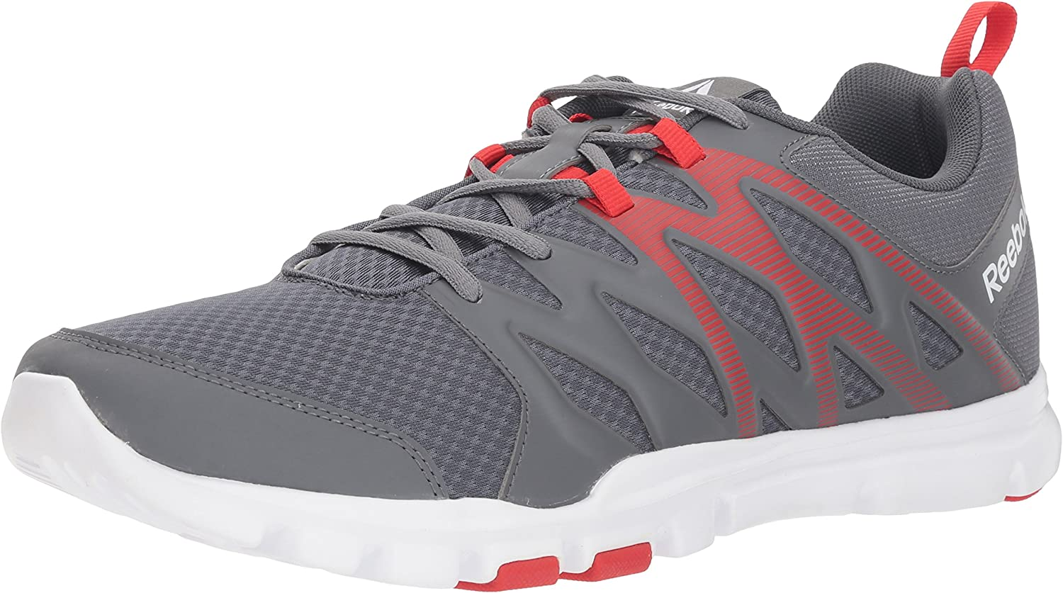 Reebok Men's Yourflex Train SC Sneaker, Alloy Primal Red White Si, 9 M US