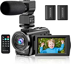 "Video Camera Camcorder YouTube Vlogging Camera FHD 1080P 30FPS 24MP 16X Digital Zoom 3"" LCD 270 Degrees Rotatable Screen D..."