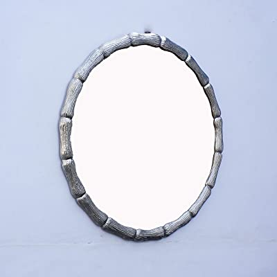 Craftter Silver Color Round Aluminium 24 inch Wall Mirror Decorative Hanging Mirror
