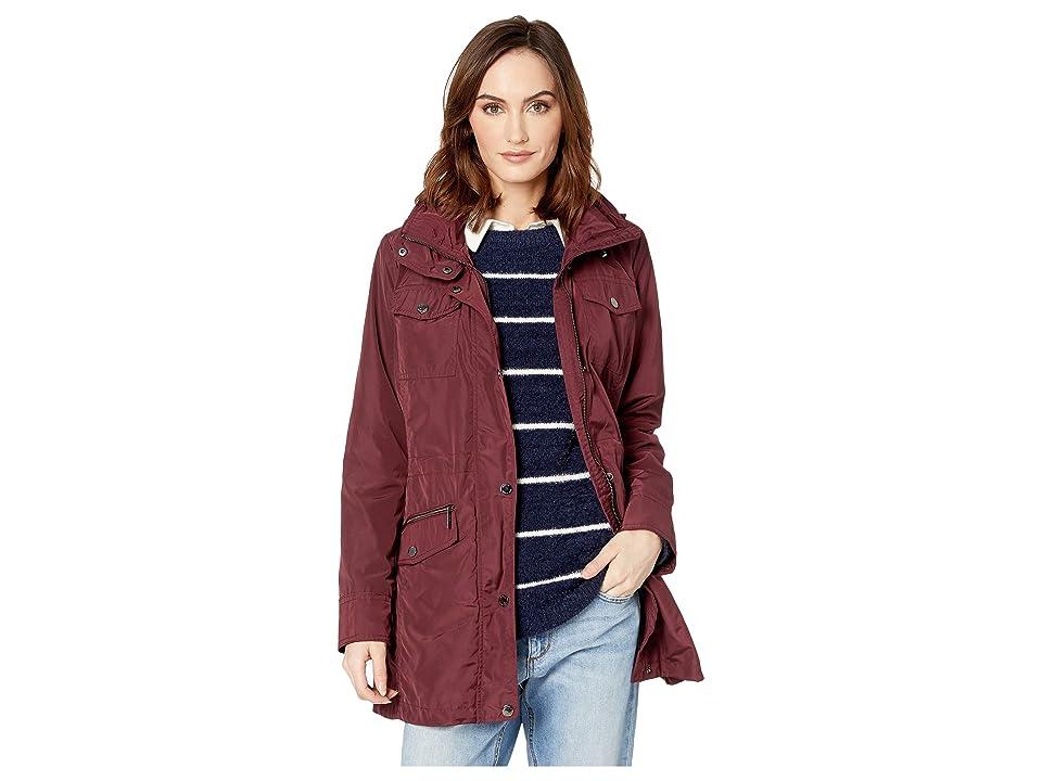 MICHAEL Michael Kors Snap Front Multi Pocket Rain Jacket M322930GZ (Merlot) Women's Coat