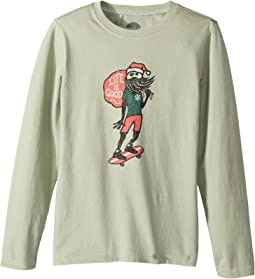 Holiday Skater Long Sleeve Crusher Tee (Little Kids/Big Kids)