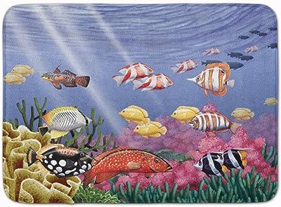 """Caroline's Treasures Undersea Fantasy 7 Floor Mat, PTW2032RUG, Multicolor, 19"""" x 27"""""""