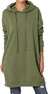 MixMatchy Women's Casual V-Neck Pocket Loose Sweatshirt...