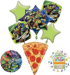 Mayflower Products Teenage Mutant Ninja Turtles Birthday Party Supplies TMNT Pizza Balloon Bouquet Decorations