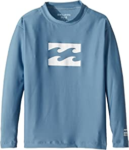 Billabong Kids - All Day Wave Loose Fit Long Sleeve Rashgurad (Toddler/Little Kids/Big Kids)