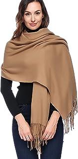 HOYAYO Damen Wolle Large Wrap Schal - Schal Stola für Frauen Schultertuch Eleganter Schal Mehrfarbig