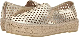 Light Gold Perforated Leather