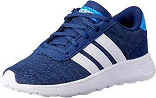 adidas Australia Boys Lite Racer Trainers, Dark Blue/Footwear White/True Blue