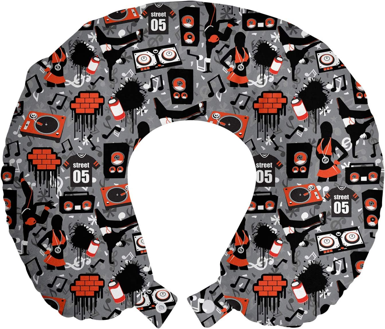 Ambesonne Hip Hop Beauty products Houston Mall Travel Pillow Ar Rest Neck Underground Street