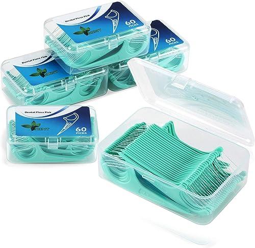 LAOYE Fil Dentaire 300 PCS Porte fils Dentaire, Lot de 5 dental floss la poignée HIPS confortable de qualité alimenta...