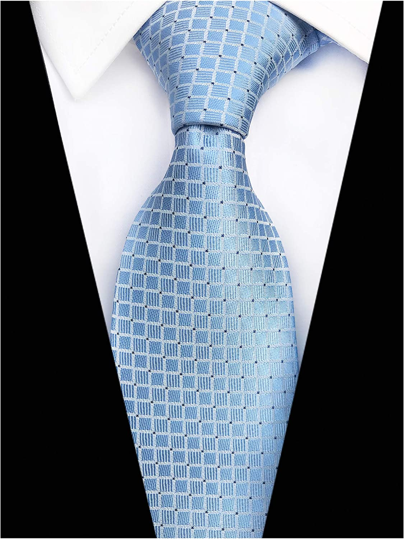 Modern Check Plaid Soild Color Ties for Men Pattern Designer Neckties by Elfeves