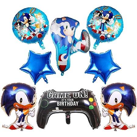 Globos de Sonic Decoracion Cumpleaños Sonic Hedgehog Sonic Frustrar Globos Sonic de Tema de La Fiesta de Globos Decoración 8PCS