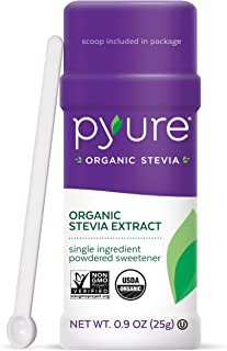 Pyure Organic Stevia Sweetener Extract Powder- 100% Stevia Leaf Extract, No Fillers, 300x Sweeter Than Sugar, 1,000 Servin...