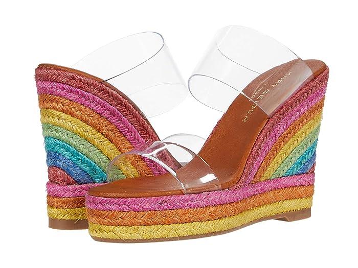 Vintage Sandals | Wedges, Espadrilles – 30s, 40s, 50s, 60s, 70s Kurt Geiger London Ariana Wedge Mule Multi Womens Shoes $149.99 AT vintagedancer.com