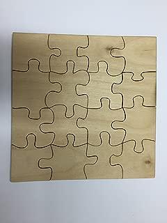 Derwent Laser Craft Puzzle de Madera en Blanco de 16 Piezas – 3 tamaños a Elegir – Listo para Pintar (30 cm x 30 cm)