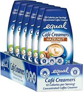 EQUAL Café Coffee Creamers Hazelnut, Low-Calorie Coffee Creamer, 1.62 Ounce (Pack of 6)