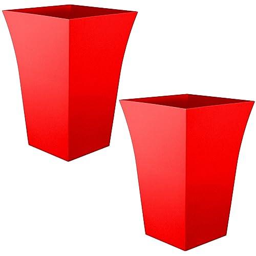 Red Plant Pots Amazon Co Uk