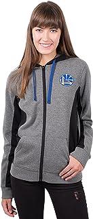 UNK NBA Women's Full Zip Hoodie Sweatshirt Dime Jacket, Charcoal