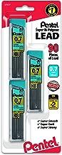 Pentel C27BPHB3K6 Super Hi-Polymer Lead Refills, 0.7mm, HB, Black, 30 per Tube (Pack of 3 Tubes)