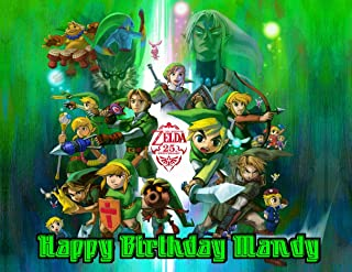 Legend of Zelda Edible Image Photo Cake Frosting Icing Topper Sheet Personalized Custom Customized Birthday Party - 1/4 Sheet - 79544