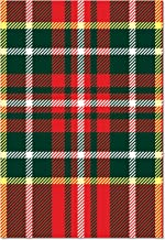 12 'Tartan Plaid Design' Beautiful Greeting Cards 4.63 x 6.75 inch, Merry Christmas Note Cards for Holidays, Gifts, Notecard Stationery w/Envelopes B6016EXSG