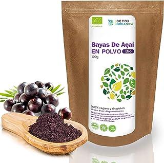 Bayas De Acai En Polvo Orgánico 100 g – Bayas Acai Congelado BIO (Freeze – Dried/Liofilizadas) – Acai Berry Extracto Crudo...
