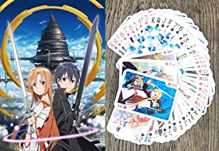 FlonzGift Sword Art Online Anime Playing Cards (Poker Deck 54 Cards All Different) SAO Kirito Asuna Manga Anime