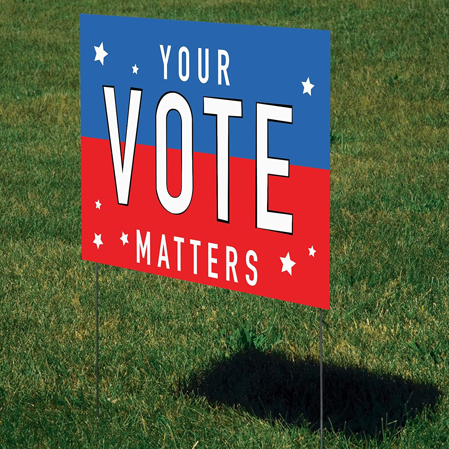 Shindigz Your 割引 Vote Matters Yard Sign - Two-Sided 日本全国 送料無料 H 32