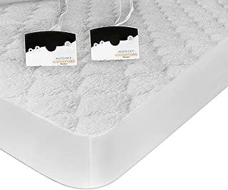 Biddeford Blankets 5303-9051128-100 Sherpa Heated Mattress Pad, 76 by 80-Inch, King