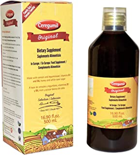 Ceregumil Original Dietary Supplement Made with Cereals, Leguminosae, Vitamins B1 and B6 for Elderly - Family Size (16.90 ...
