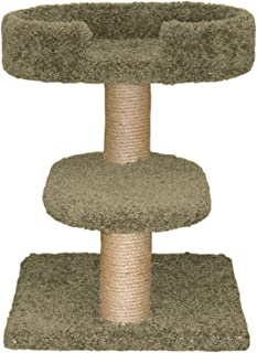 North American Pet Family Cat Two Tier Cat Tree with Lounger
