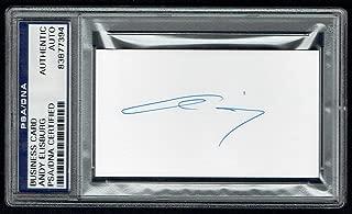 Andy Elisburg signed autograph auto Miami Heat GM Business Card PSA Slabbed