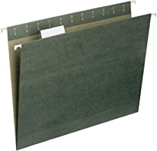 Smead Hanging File Folder with Tab, 1/5-Cut Adjustable Tab, Letter Size, Standard Green, 50 per Box (64029)