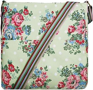 Miss Lulu Damen Canvas Umhängetasche/Schultertasche aus Segeltuch Handtasche Grün