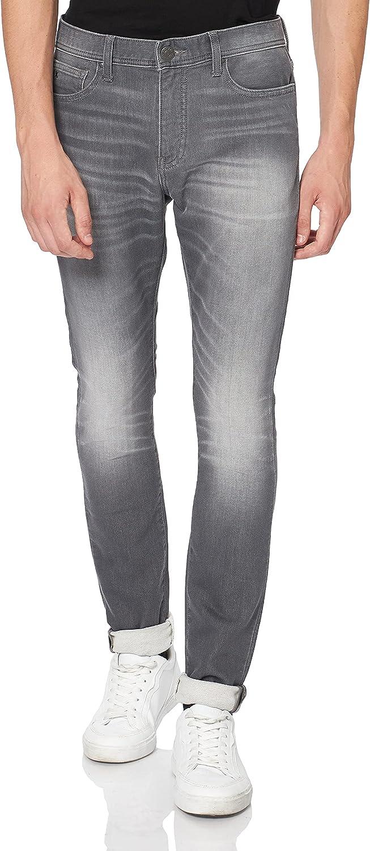 Armani Exchange Super Skinny Light Grey Wash Jeans para Hombre