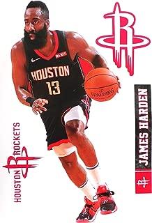 FATHEAD James Harden Houston Rockets Logo Set Official NBA Vinyl Wall Graphics 16