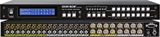 Shinybow 8x8 (8:8) Composite BNC + Stereo/Analog Audio Video Matrix Switcher with Volume Control SB-5548BNC