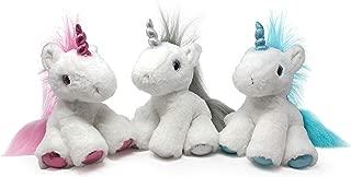 Fluffuns Unicorn Plush Toys - Cute Unicorn Stuffed Animals in 3 Colors - 3-Pack of Stuffed Animal Unicorns - 10 Inch Height