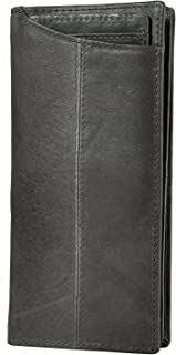 Mens Leather Zipper Pocket Id Business Card Case Holder Organizer Wallet Phone Case Designer Bifold Checkbook Purse