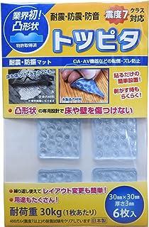 トツピタ中(耐震・防振マット)6個入り ブルー TP0002N-6-BL
