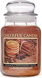 A Cheerful Giver Orange Cinnamon Clove Jar Candle, 24-Ounce, Brown