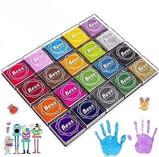 comprar comparacion Sellos para Niños, Wokkol Tintas Arbol Huellas Tinta para Sellos Arco Iris Color de Huellas Dactilares Almohadilla de Tint...