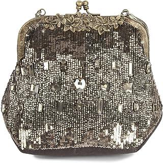 MyBatua Camila Fancy Hand Gestickte Tasche Blumen-Design Handtasche ACP-444