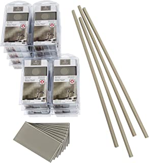 Aspect Peel and Stick Backsplash Kit Putty Glass Tile for Kitchen and Bathrooms (15 sq ft Kit)