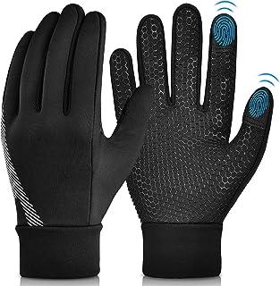 Winter Warm Cycling Kids Gloves - Cold Weather Thermal Running Ski Bike Black Mittens Aged 4-12 Boys Girls